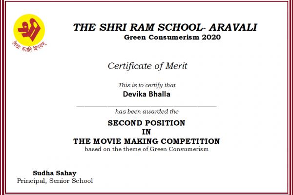 Devika Bhalla_Green Consumerism 2020