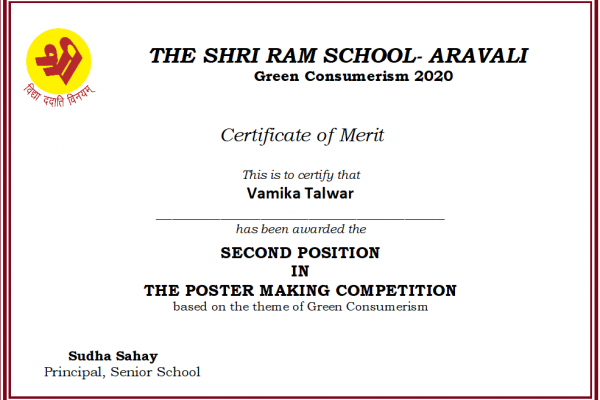 Vamika Talwar_Green Consumerism 2020
