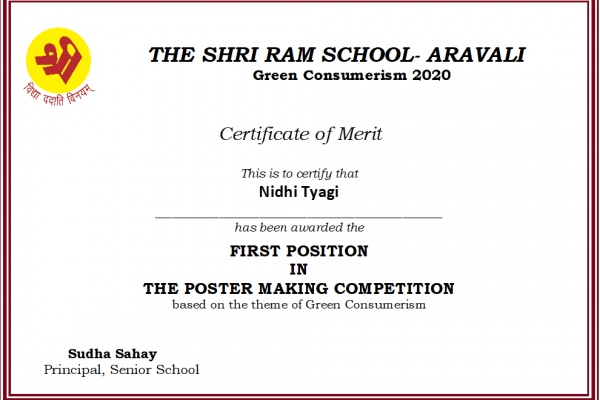 Nidhi Tyagi_Green Consumerism 2020